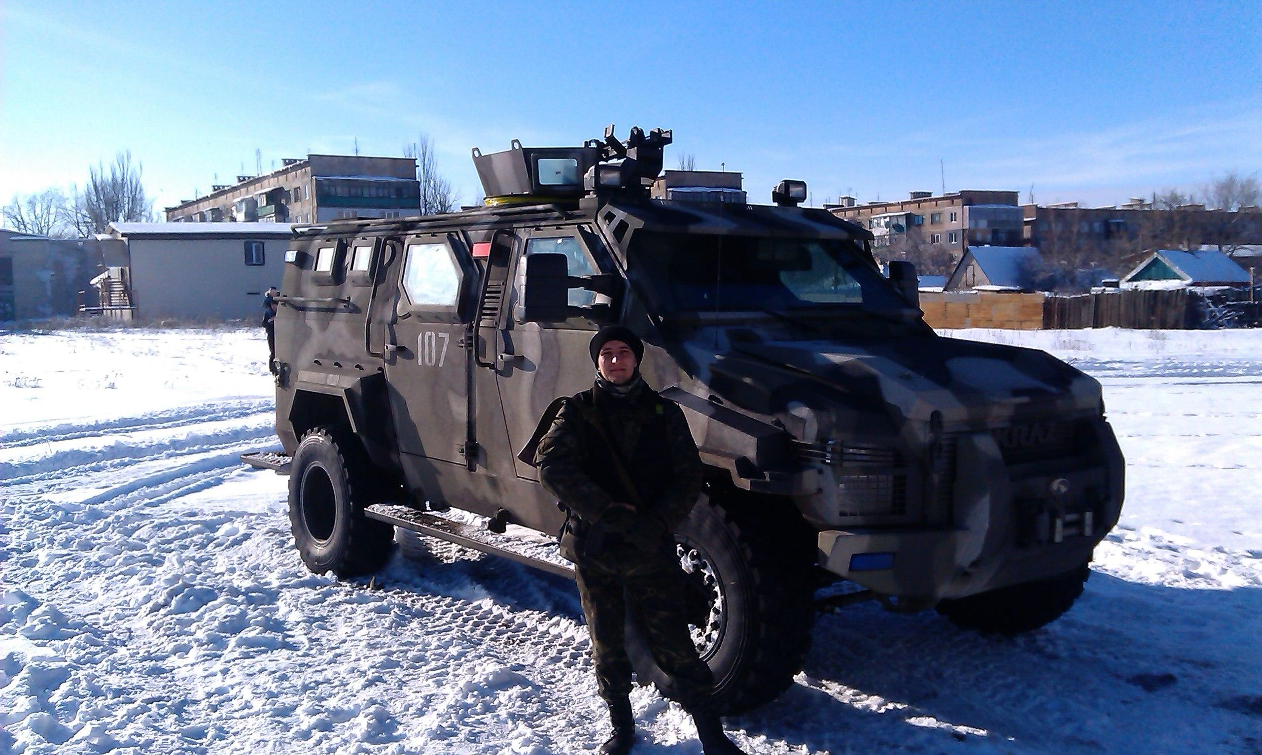 Спартан ВСУ в Дебальцево