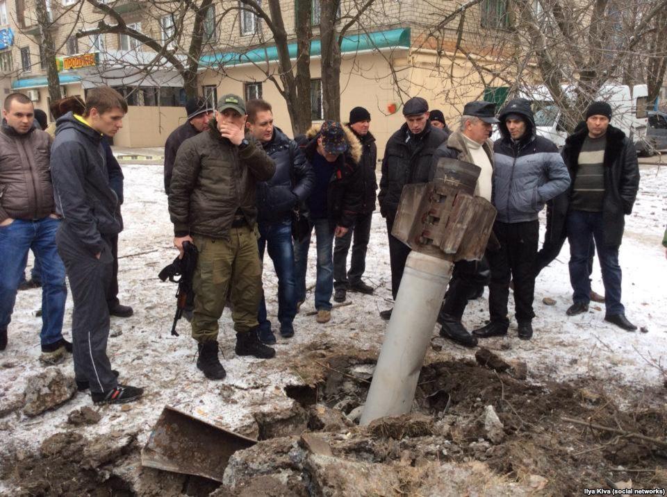 результат обстрела 10.02.2015