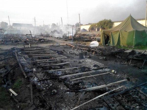 разрушенный лагерь ВСУ