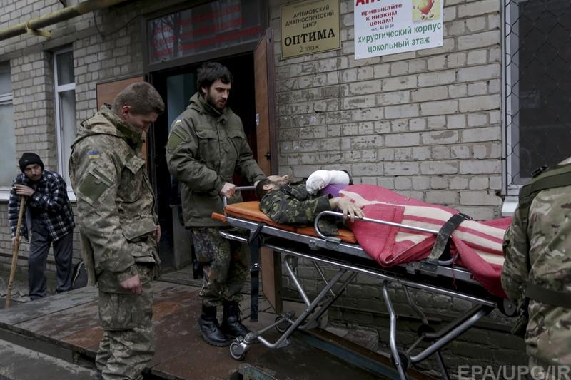 эвакуация раненых из Артемовска