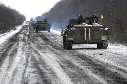 Украинские силовики в Дебальцево Фото: Глеб Гаранич / Reuters