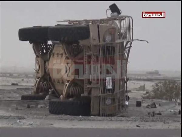 Уничтоженный хуситами бронеавтомобиль Oshkosh M-ATV по всей видимости переданный южанам ОАЭ