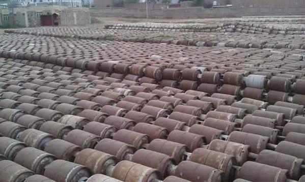 Yemen war - Taiz cooking gas storage explosion aftermath in Yemen 1