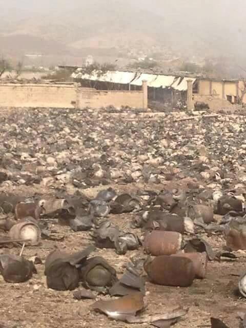 Yemen war - Taiz cooking gas storage explosion aftermath in Yemen 2
