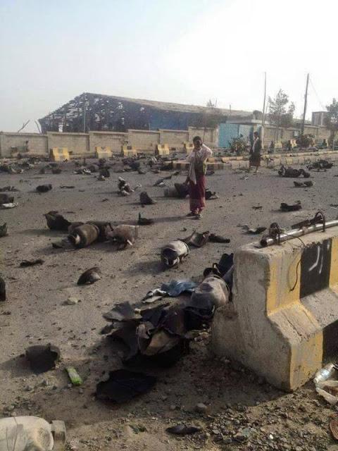 Yemen war - Taiz cooking gas storage explosion aftermath in Yemen 3