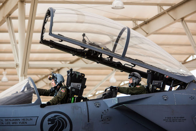 Republic of Singapore F-15SG Strike Eagles training in Tucson's skies 1