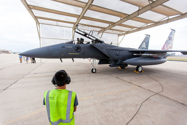 Republic of Singapore F-15SG Strike Eagles training in Tucson's skies 2