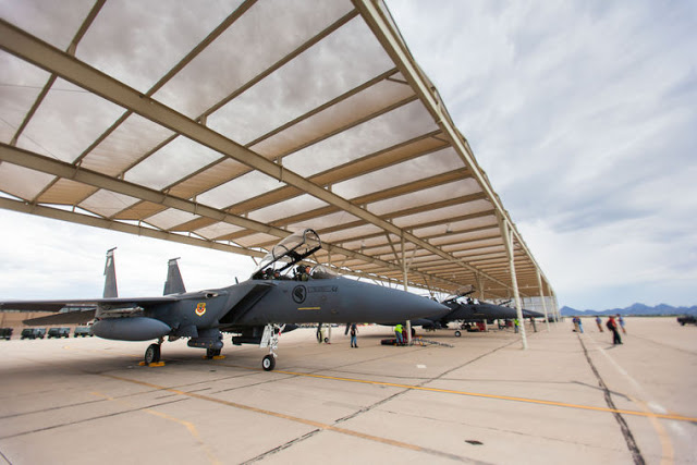 Republic of Singapore F-15SG Strike Eagles training in Tucson's skies 3