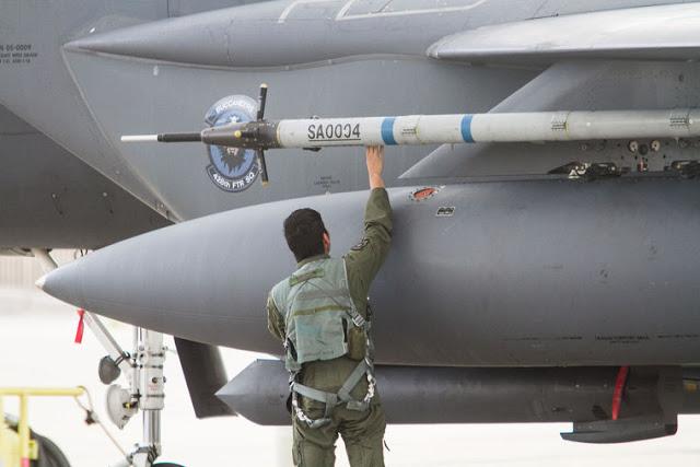 Republic of Singapore F-15SG Strike Eagles training in Tucson's skies 5