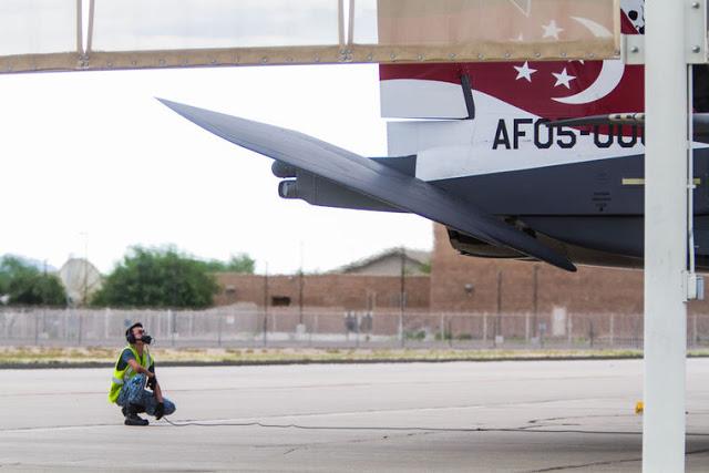 Republic of Singapore F-15SG Strike Eagles training in Tucson's skies 7