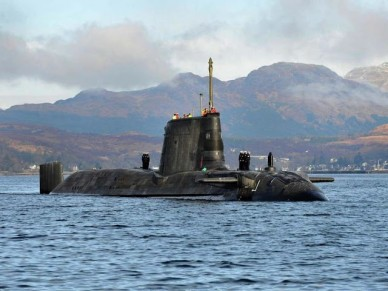 Third British new Astute class nuclear attack submarine sea trials 2