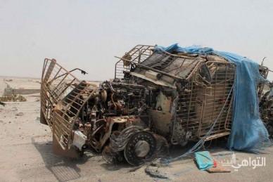 Подорванный автомобиль в Йемене