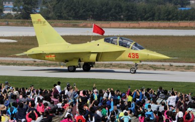 New trainer unveiled at PLAAF public day in Changchun, Jiling 3