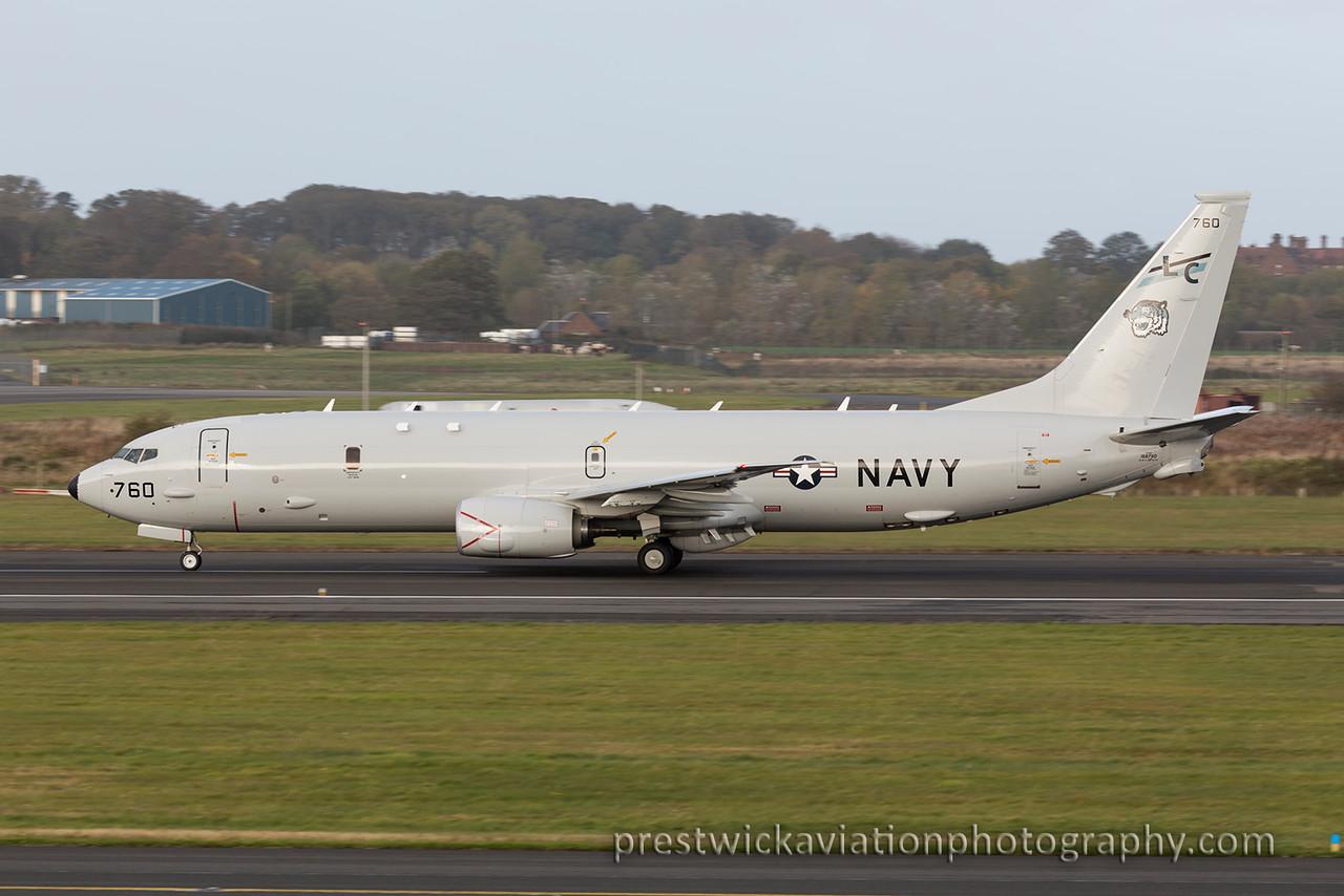 168760 Boeing P-8A Poseidon US Navy Prestwick 221015-X2