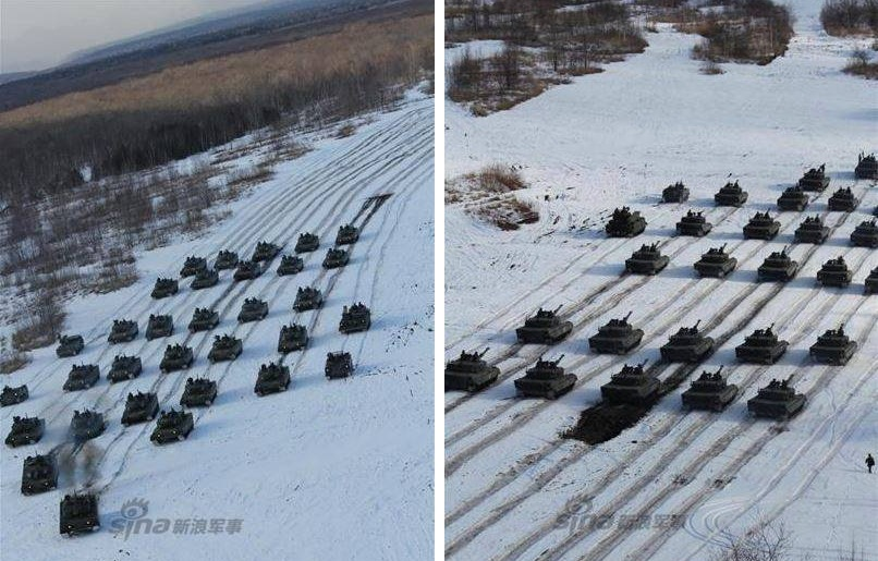 Japanese Tank Division Exercises with 90 tanks 7