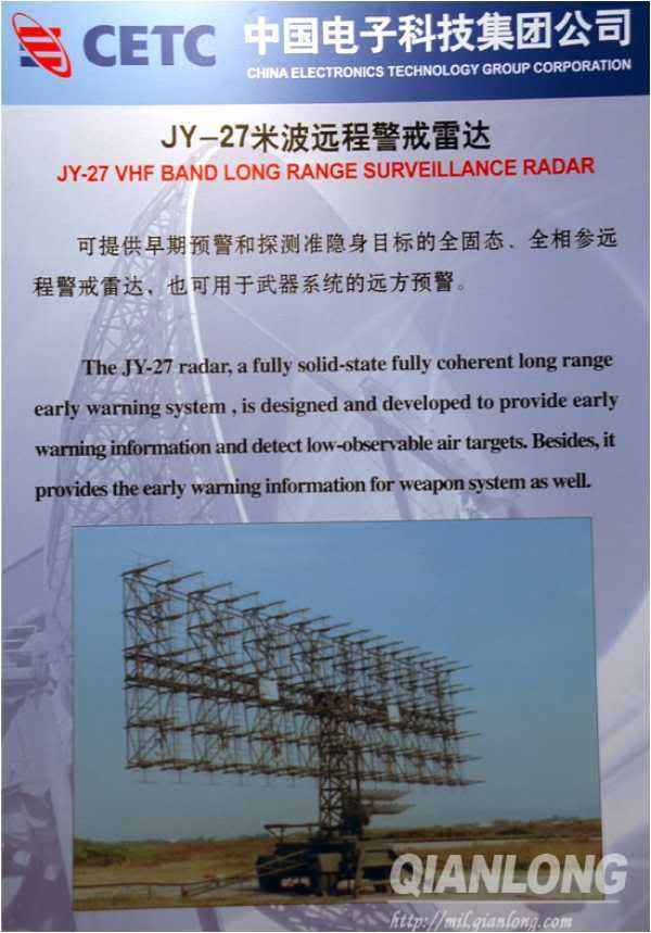 Рекламный плакат РЛС JY-27