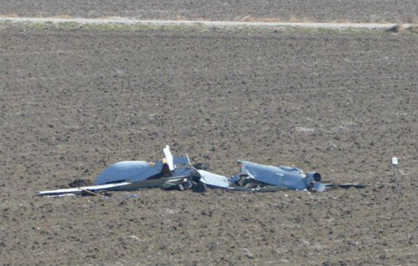 US drone has crashed in the southern Adana Province
