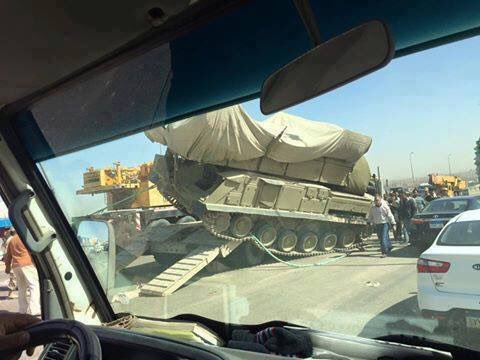 russian BUK-M missile system on the road in Cairo 1
