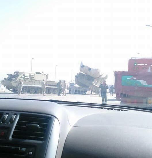 russian BUK-M missile system on the road in Cairo 2