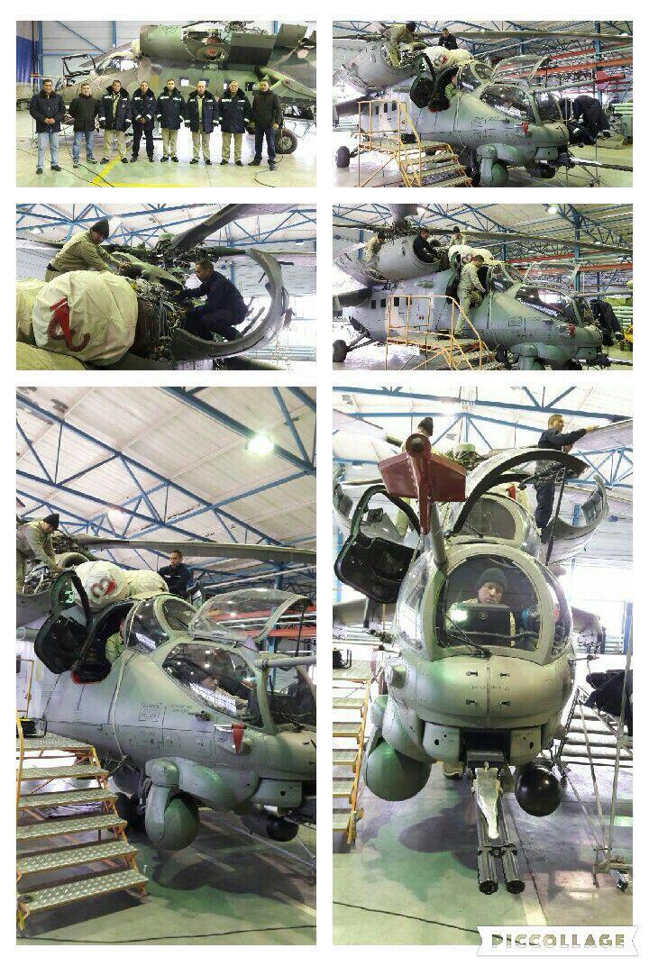 """Прошедшие ремонт в России на АО """"Роствертол"""" боевые вертолеты Ми-35М армейской авиации Венесуэлы, март 2016 года (с) командование армейской авиации Боливарианских сухопутных войск Венесуэлы / twitter.com/EJB_CAV"""