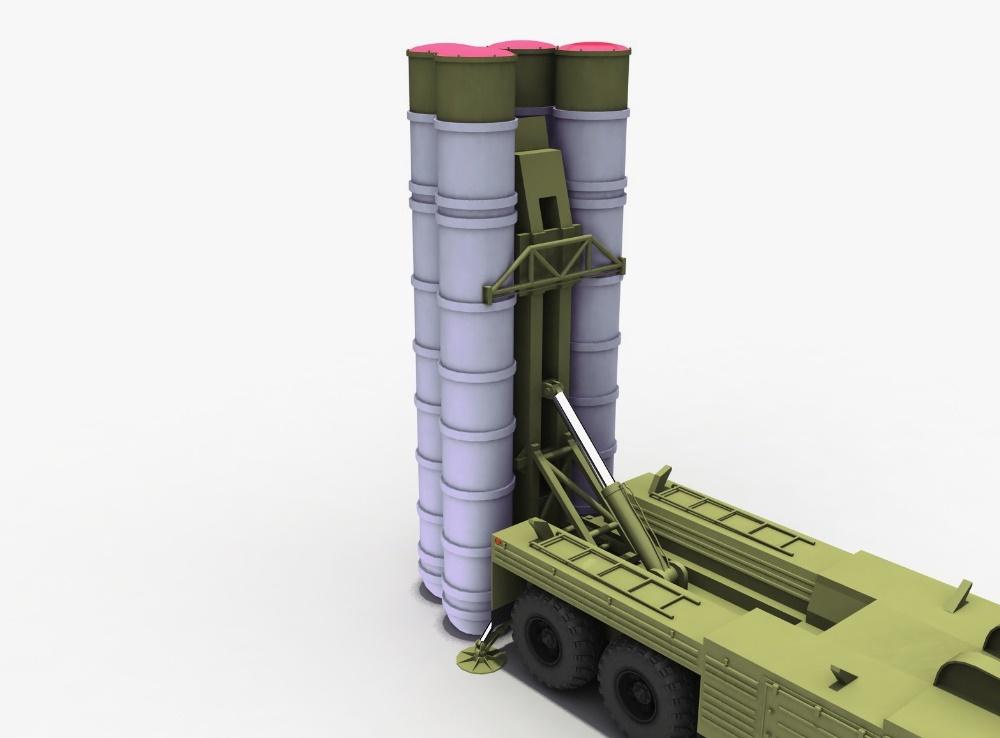 3D модель ЗРК С-300ПТ на шасси КрАЗ