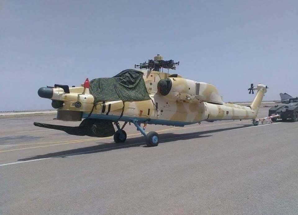 Один из первых двух боевых вертолетов Ми-28НЭ, поставленных Алжиру 26.05.2016 (с) Hammer Head / twitter.com