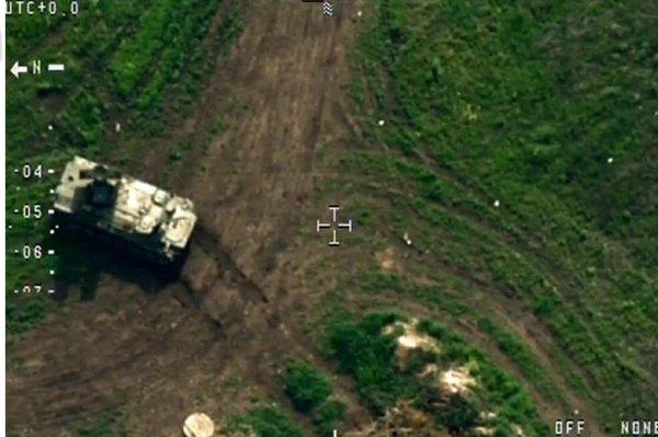 Один из крайних снимков сбитого беспилотника ОБСЕ