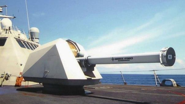 Электромагнитное орудие MMRRWS на борту литорального корабля ВМС США janes.com