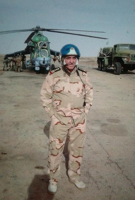 Фото генерала Мухаммед Бадр Махмуда погибшего во время крушения вертолета Ми-25 ВС Сирии 01.07.2016