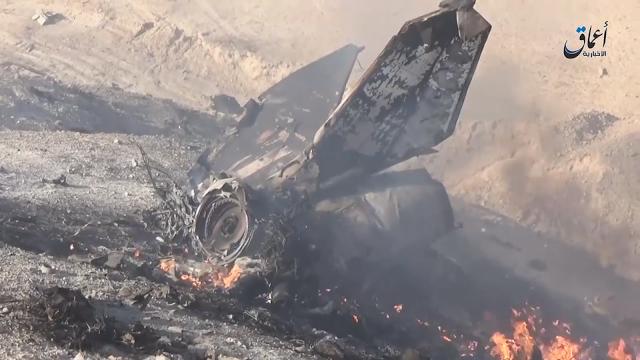 Место крушения МиГ-23 ВВС Сирии 14.07.2016