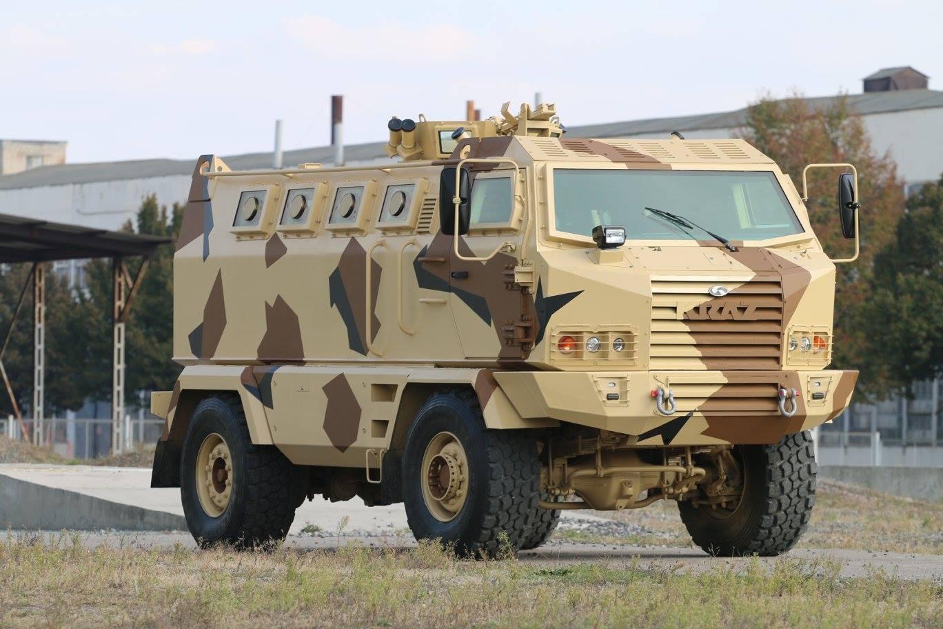 "Ucraniana KrAZ apresenta veículo blindado multipropósito 4×4 ""Hulk"""