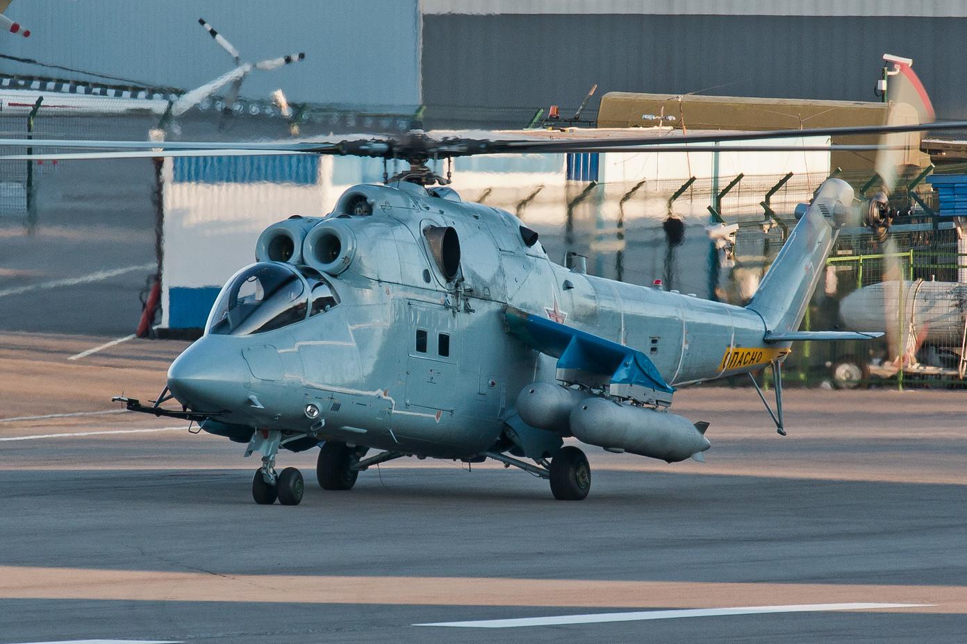 Helicóptero Mi-24 alcança velocidade de mais de 400 quilômetros por hora