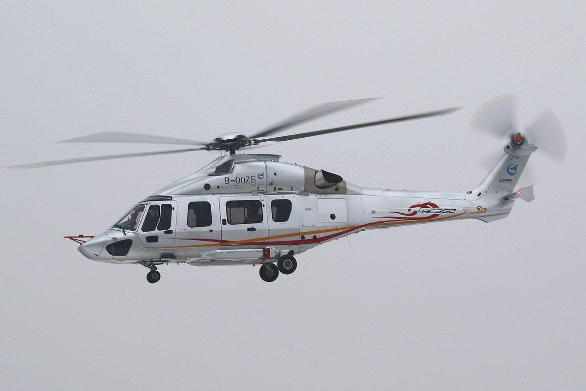 China fez primeiro voo de seu novo helicóptero AC352